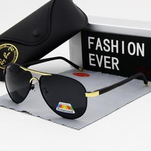 Image 2 - אופנה סגלגל מקוטב משקפי שמש גברים מותג מעצב נהיגה זכר הטוב ביותר שמש משקפיים שחור מסגרת משקפיים UV400