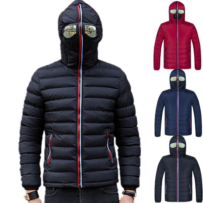 Lawrenceblack Winter Jackets Padded Parkas Hooded-Coat Glasses Warm-Camperas Mens Windproof title=