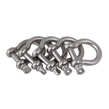 5Pcs M6 Silver 304 Stainless Steel Rustproof Screw Pin Anchor Bow Shackle Clevis European Style
