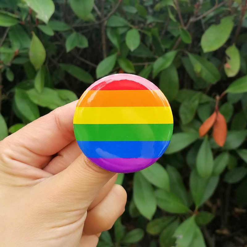 Nengdou T29 LGBT Pride Rainbow FLAG Badge รอบไอคอนเกย์เลสเบี้ยนกะเทย Transgender Pansexual Asexual สัญลักษณ์ PIN Rozet เข็มกลัด