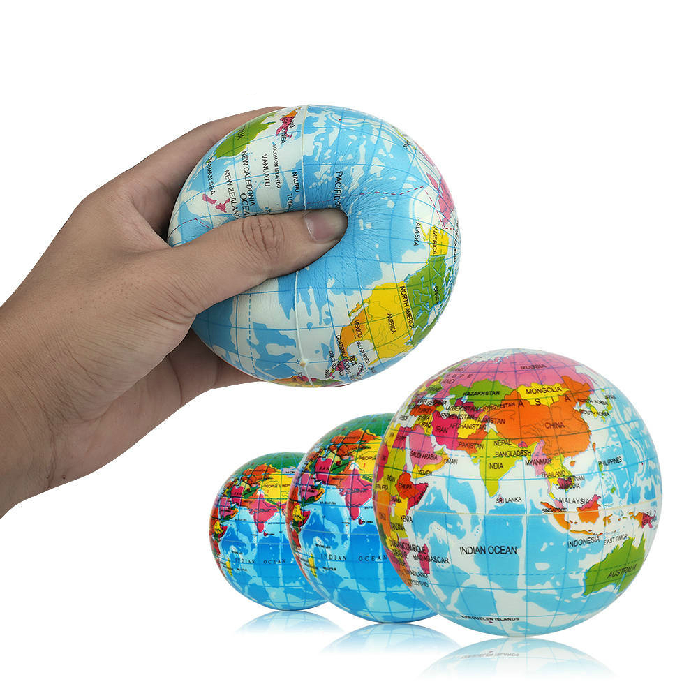 Soft Squishy Toy Creative Earth World Map Toys For Children Slow Rising Stress Relief Antistress Novelty Gag Toy Kids Funny Gift