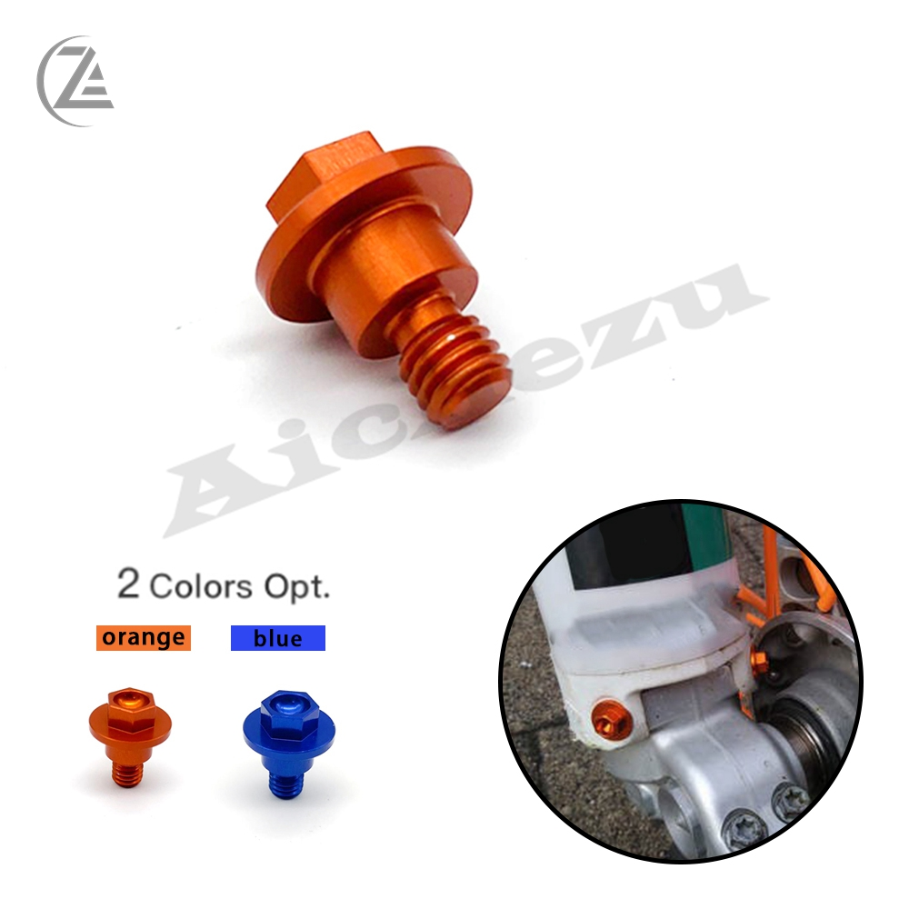 ACZ Front Fork Guard Bolt Screw For <font><b>KTM</b></font> SX SXF EXC EXCF XC XCF XCW XCFW 65 125 150 250 350 <font><b>450</b></font> 525 530 2000- <font><b>2017</b></font> 2018 2019 Free image