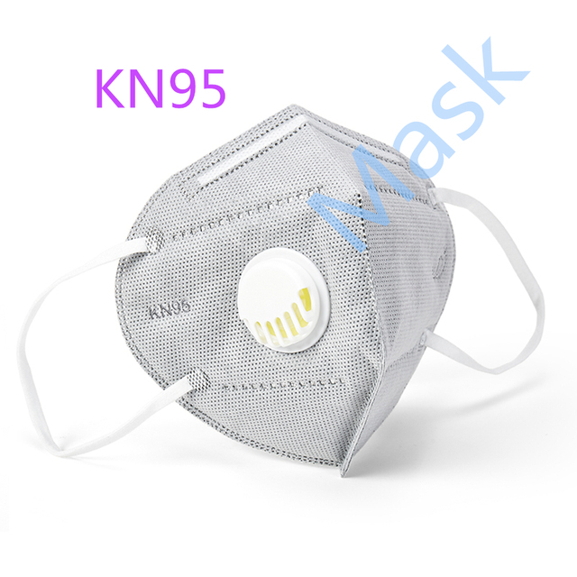 5pcs/set Folding KN95 Mask Anti-dust, Flu, Virus,Smoke Respirator Face Protection with Self-priming Filter With Retail Package 1