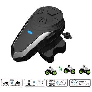 Image 1 - BTS3 Motorhelm Intercom 1200M BT S3 IPX7 Waterdichte Fm Headset Bluetooth 3 Rijders Groep Talk Helm Intercom
