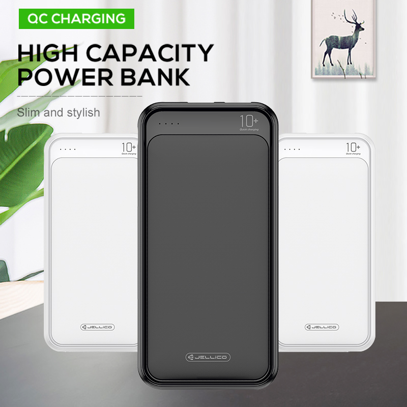 Jellico <font><b>Power</b></font> <font><b>Bank</b></font> 10000mAh Portable Charger For Samsung Xiaomi <font><b>mi</b></font> Mobile External Battery Powerbank <font><b>10000</b></font> mAh Poverbank Phone image