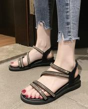 Women Sandals 2019 New Fashion Female Shoes Woman Summer Wedge Platform Ladies Slip-on Flat Sandalias
