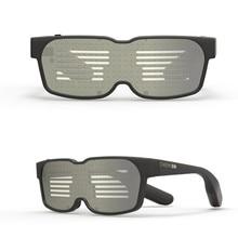 Горячая Распродажа, Новые смарт-очки, Bluetooth, светодиодный динамический светящийся светильник, солнцезащитные очки для ночной рождественской вечеринки, мигающие очки