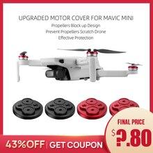 อัพเกรดมอเตอร์สำหรับDJI Mavic Mini ProtectorสำหรับMavic Mini Droneอลูมิเนียมหมวกเครื่องยนต์ป้องกันใบพัดScratch Block Up