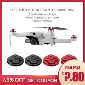 Image 1 - Upgraded Motor Cover for DJI Mavic Mini Protector for Mavic Mini Drone Aluminium Cap Engine Prevent Propeller Scratch Block up