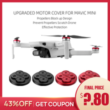 Verbesserte Motor Abdeckung für DJI Mavic Mini Protector für Mavic Mini Drone Aluminium Kappe Motor Verhindern Propeller Scratch Block up