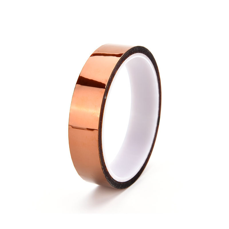 High Quality 20mm 33m 100ftHeat Resistant High Temperature Polyimide Adhesive Tape Tawny Hot New 1PC