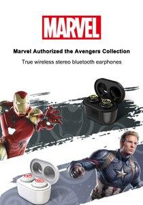 Image 2 - Marvel sertifikalı kaptan amerika TWS kablosuz Stereo kulaklık Bluetooth V5.0 kulaklık desteği bağlamak için iki cep telefonu