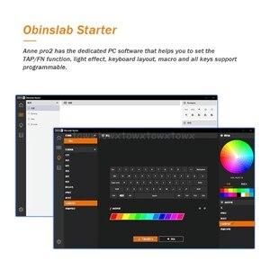 Image 2 - Anne Pro2 60% Bluetooth 4.0 type c RGB 61 touches clavier de jeu mécanique commutateur cerise commutateur Gateron
