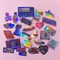 Ins Ретро Декор наклейки Скрапбукинг ярлыком Дневник стикеры для альбомов милые канцелярские принадлежности Лазерная наклейки подарок
