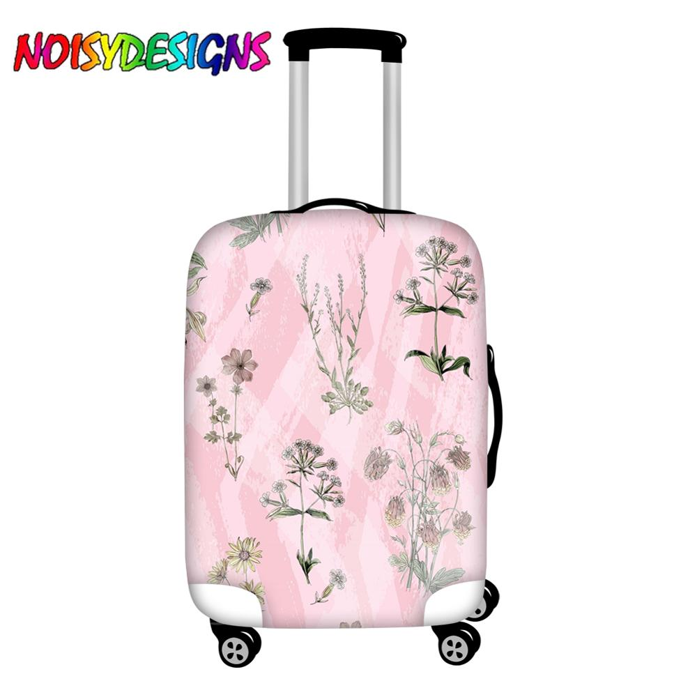 NOISYDESIGNS Flowers Floral Luggage Protective Cover For Travelling 18-32 inch Trolley Case Suitcase Covers Travel Accessories