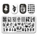Новейший штамп для ногтей MouTeen024, Мультяшные ногти, Алиса, покер, девушка, штамповочные пластины для ногтей, маникюрный набор для ногтевого д...