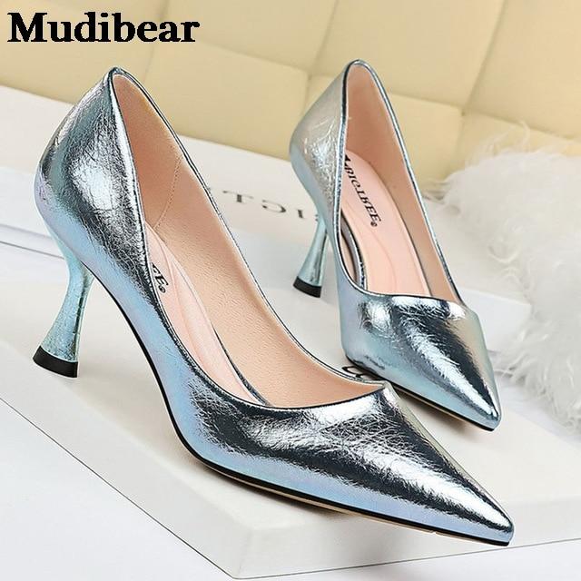 Купить туфли mudibear женские на высоком каблуке удобная свадебная