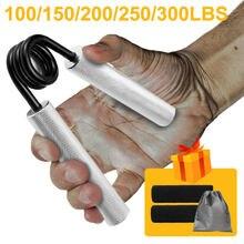 100lbs-300lbs aptidão apertos pesados de reabilitação de pulso desenvolvedor liga aperto de mão força muscular dispositivo treinamento expansor carpal