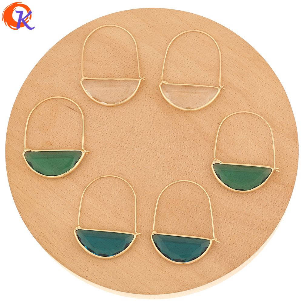 Cordial Design 30Pcs 34*44MM Jewelry Accessories/Crystal Glass Earrings Drop/Hand Made/DIY Making/Earring Findings/Earring Hooks