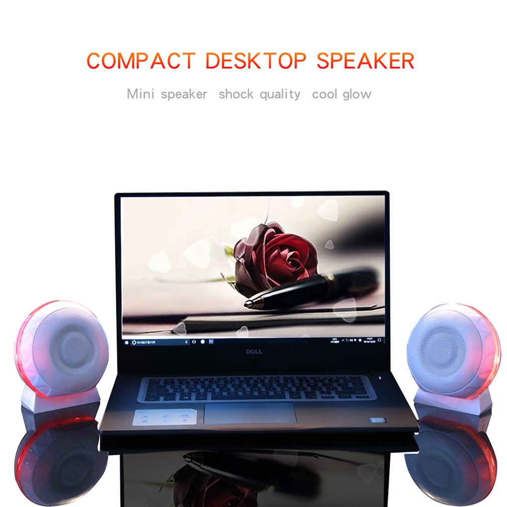 Динамик 3,5 мм проводной настольный ноутбук динамик s USB компьютер громкий динамик