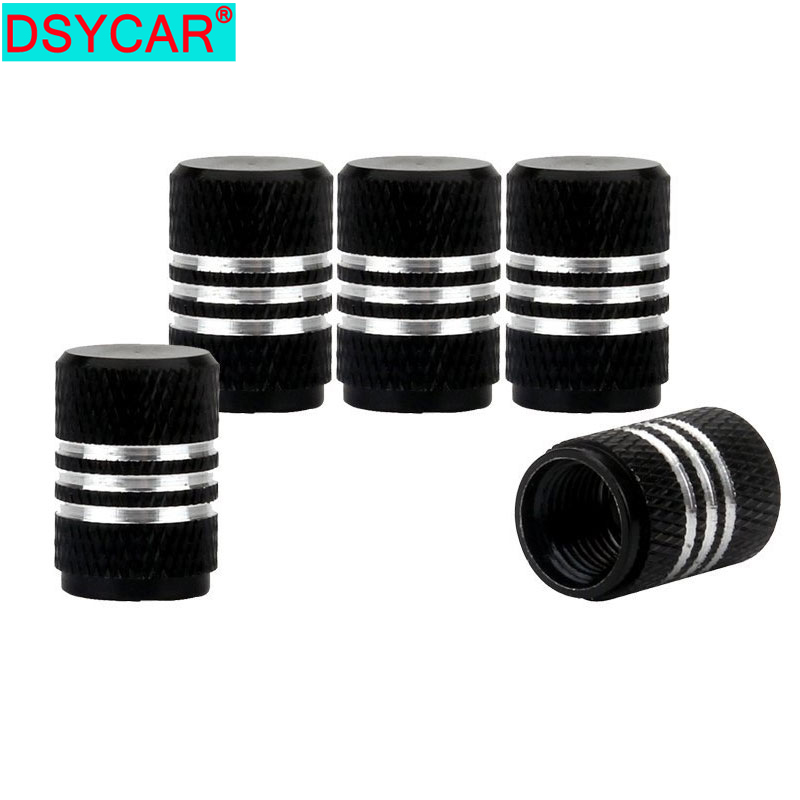 DSYCAR 4Pcs/Lot Universal Alu-alloy Tire Valve Caps For Car Truck Motorcycle Bicycle Valve Stem Cover Tire Accessories