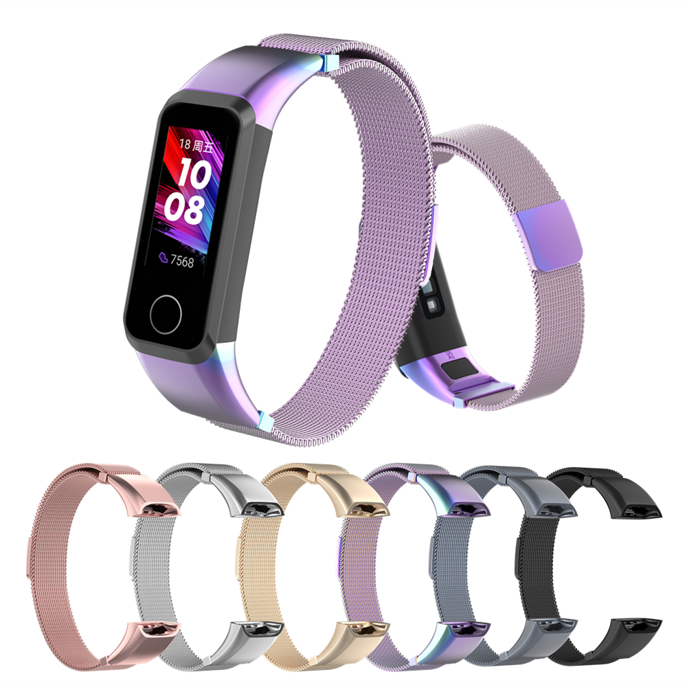 For Huawei Band 4 Bracelet Strap For Honor Band 5i Milanese Metal Wrist Strap Replacement Watchband Wriststrap For Honor 5i