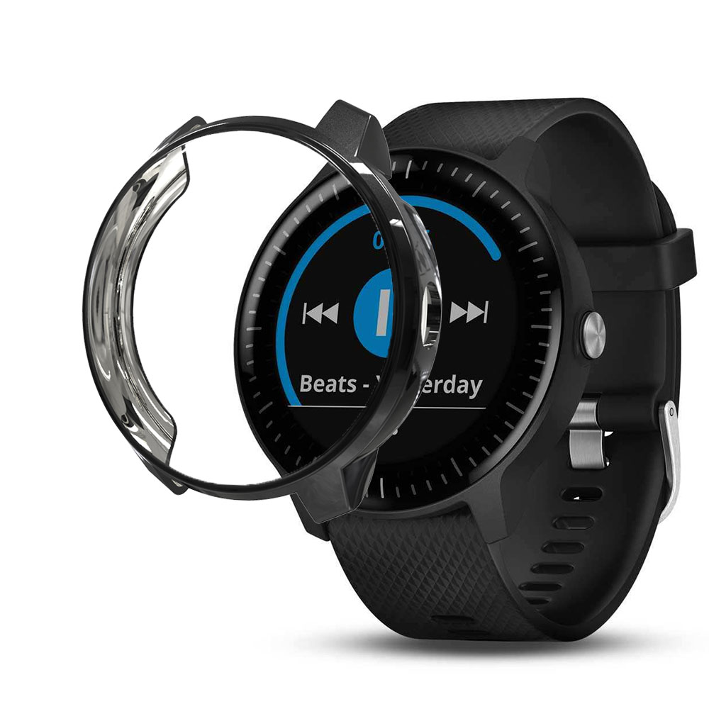 Smart Watch TPU Case Cover For Garmin Vivoactive 3 Music Smart Watch Screen Protector Cover Soft Clear Cover Watch Accessories