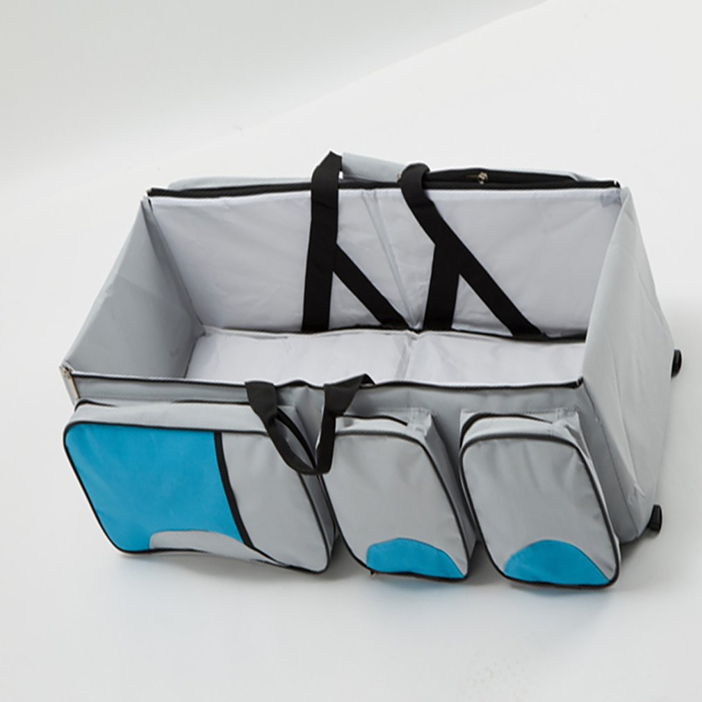 Foldable Baby Portable Mother And Baby Bag Multifunctional Large Capacity Mommy Bag Out Portable Travel Bed