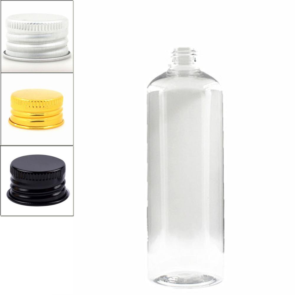 500ml Empty Plastic Bottles, Clear PET Bottle With Silver/gold Aluminum Lid