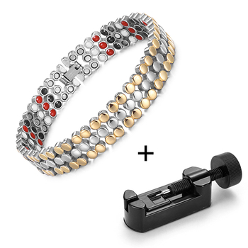 RainSo Stainless Steel Magnetic Charm Bracelets for Women Bio Energy Therapy Love Bracelet Femme Health Jewelry Friendship Gifts 8