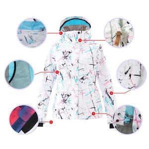 Image 4 - SMN Ski Suit Adult Women Winter Waterproof Breathable Warm Snowboard Jacket Bibs Pants Wind Resistant Outdoor Snowboard Suit