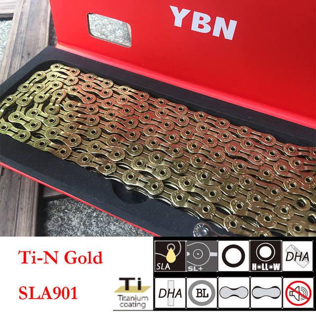 New YBN SLA-901 9 Speed Chain Bicycle Fit Shimano Sram /& Campangnolo Silver