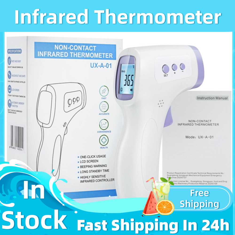 Non-Contact Ear-Thermometer Fever Digital Forehead-Body Baby Adults Outdoor Infrared
