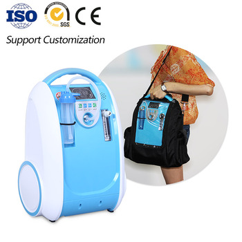 XGREEO Battery Oxygen Concentrator 1L-5L Adjust Medical Oxygen Concentrator Generator Portable With Car Adpator