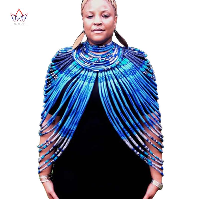2019 Ankara Đẹp Nhiều Dây Vòng Cổ Châu Phi Đậm Nhiều Màu Sắc Dài Kỳ Lạ Trang Sức Anfrica Handmade Cổ Brw SP026