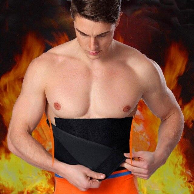 Adjustable Waist Tummy Trimmer Slimming Sweat Belt Fat Body Shaper Wrap Band Weight Loss Burn Exercise Men Women Belly Dropship 1