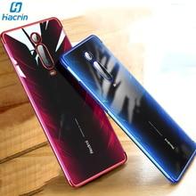 Hacrin Case For Xiaomi mi 9t Soft TPU Transparent Clear Plating Bumper Back Cover Redmi K20 Pro Global Version