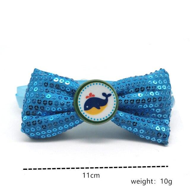 30/50pcs paillettes brillantes chien noeud papillon océan série chien nœuds papillon collier pour animaux de compagnie cravate pour grand chien moyen toilettage accessoires pour animaux de compagnie