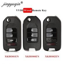 Jingyuqin Xhorse VVDI XKHO00EN / XKHO01EN / XKHO02EN kablolu uzaktan anahtar 2/3/4 düğmeler Honda tipi evrensel İngilizce sürümü