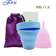 1pcs Menstrual Cup and Sterilizer Sterilizing Collapsible Cups to Clean Copa Recyclable Foldable