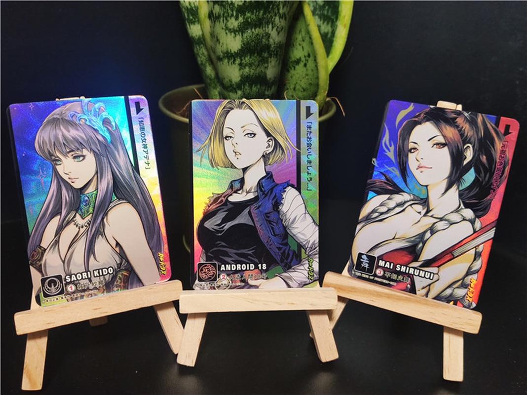 6pcs/set Saint Seiya Dragon Ball Z Android 18 Sexy Girl Mai Shiranui Sexy Beauty Hobby Collectibles Game Collection Anime Cards