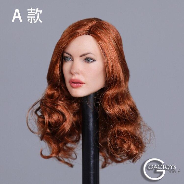 "1//6 American Female Head Sculpt GC031 A SUNTAN For 12/"" TBLeague Hot Toys Figure"