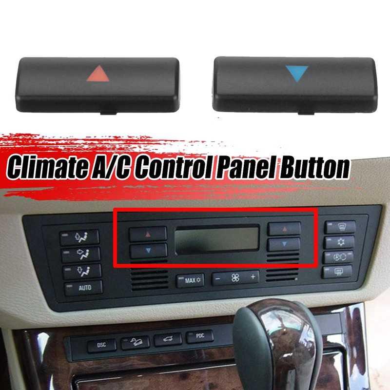 Nrpfell 2 Piezas de Aire Acondicionado para Autom/óVil una//C Temperatura Panel de Control Interruptor Bot/óN Cubierta para X5 E39 E53 525I 530I 540I M5 64116924315