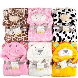 Saco de dormir do bebê dos desenhos animados conjunto de roupas de bebê recebendo cobertor animal toalha banho roupão envoltório manto conjunto cama