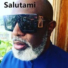 Chic Punk Luxury Brand Sunglasses For Men One Piece Suare Ov