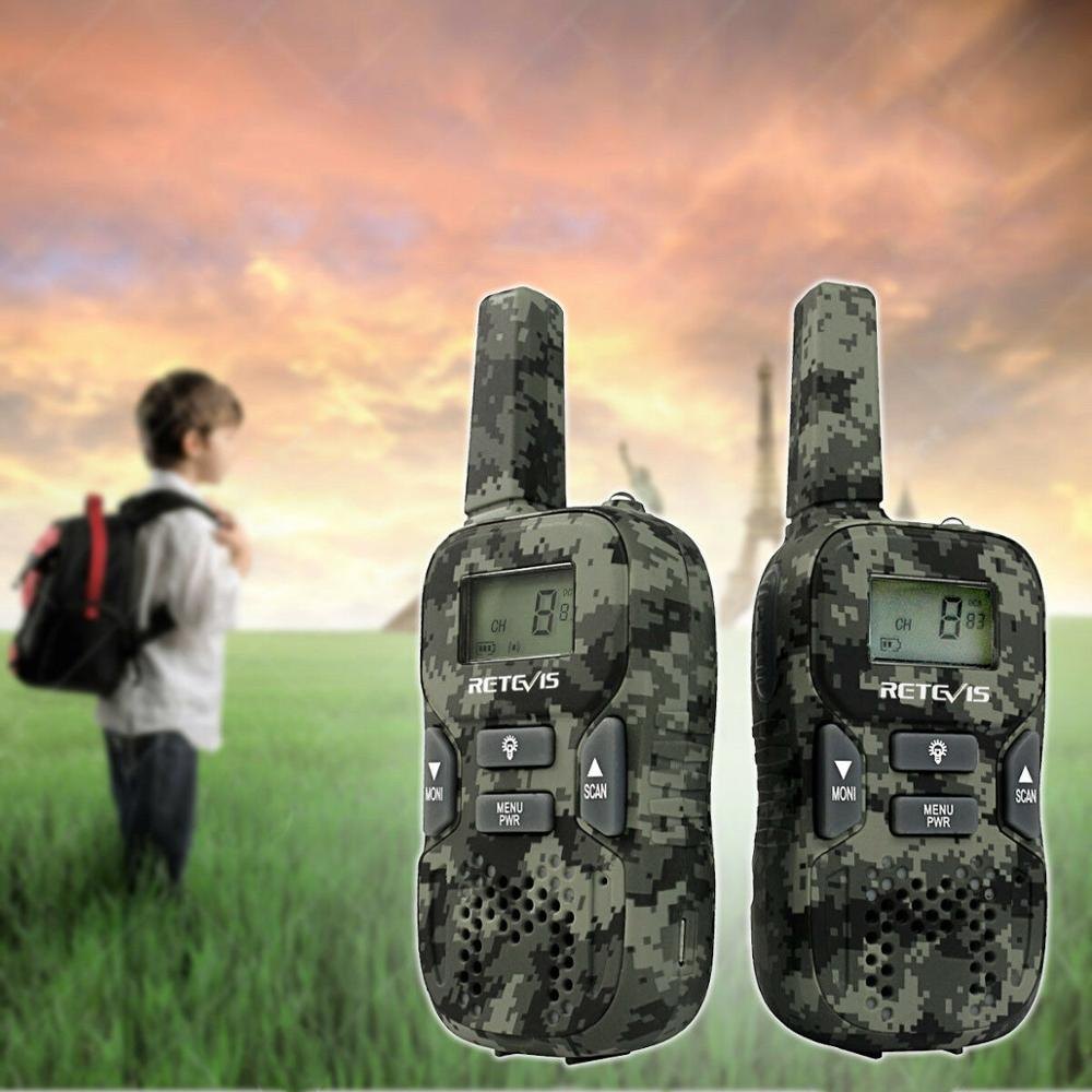 RETEVIS RT33 Mini Walkie Talkie 2pcs Kids Wireless Radio Toys PMR PMR446 FRS VOX Flashlight USB Charge Two Way Radio Transceiver