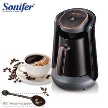 800 Вт автоматическая Турецкая кофеварка, беспроводной электрический сосуд для кофе, пищевой кофе Moka, чайник в подарок, 220 В, Sonifer