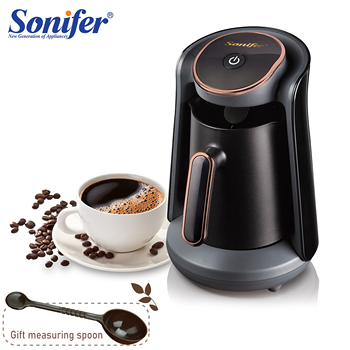 800W Automatic Turkish Coffee Maker Machine Cordless Electric Coffee Pot Food Grade Moka Coffee Kettle for Gift 220V Sonifer