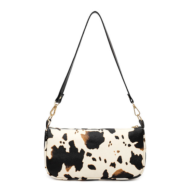 Retro Cowhide Look Tote Bag