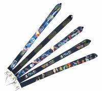 60 pcs Cartoon anime Neck Lanyard ID Badge Holders Mobile Neck Keychains For Party Gift WE 38